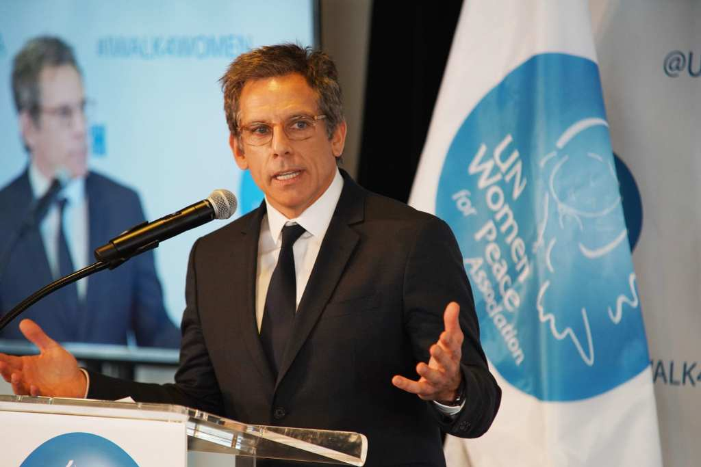 Ben Stiller speaks onstage at the UN Women For Peace Association | © Gonzalo Marroquin/Patrick McMullan via Getty Images