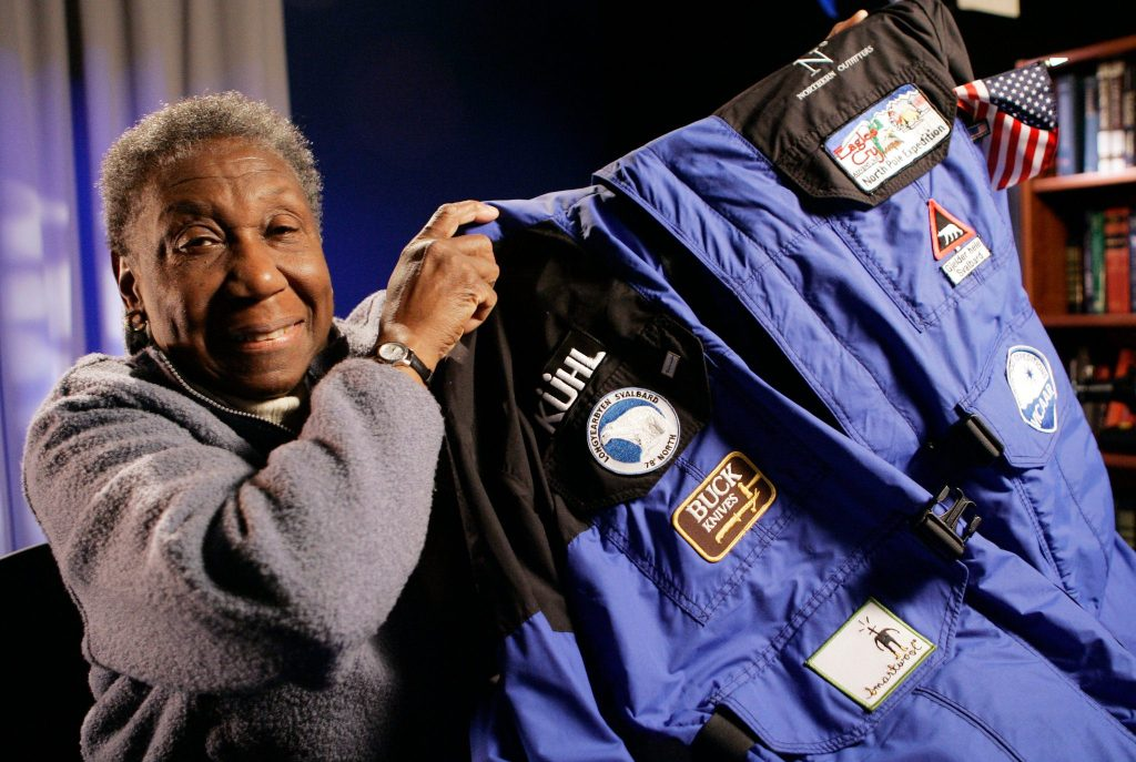 Barbara Hillary in 2007 with the parka she wore on her trip to the North Pole, becoming the first black woman on record to venture there. | © Richard Drew/Associated Press
