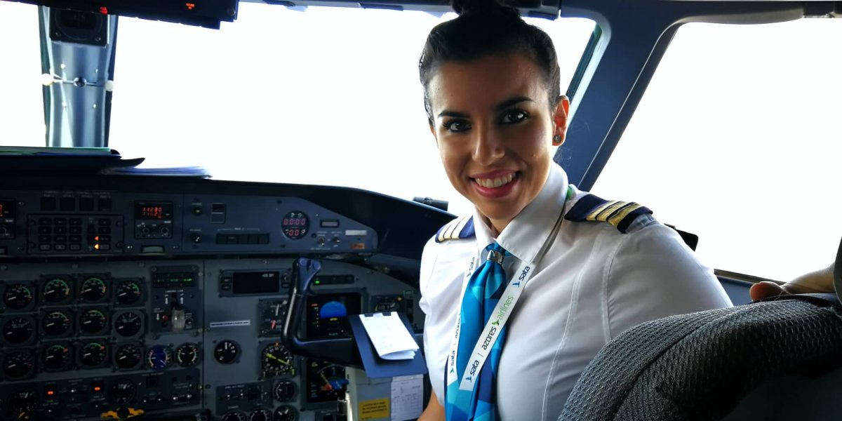 Courtesy of Pilot Valérie Bich, the first female pilot of SATA Air Azores