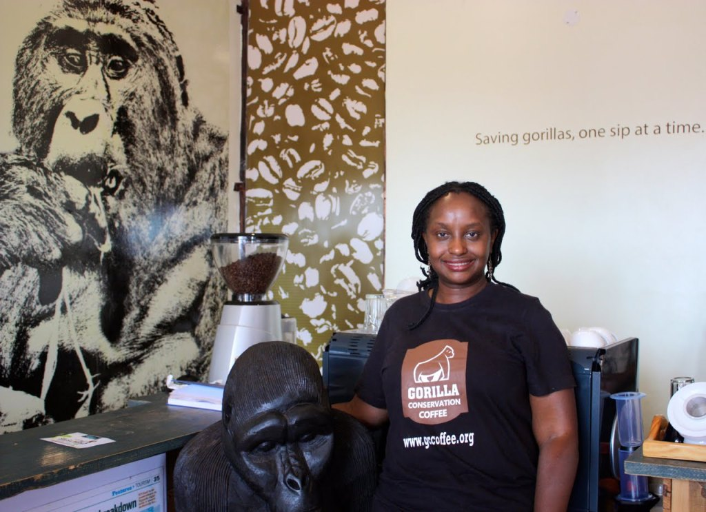 Dr. Gladys Kalema-Zikusoka founded Gorilla Conservation Coffee, which both supports the local community and saves gorillas © | Christina Newberry