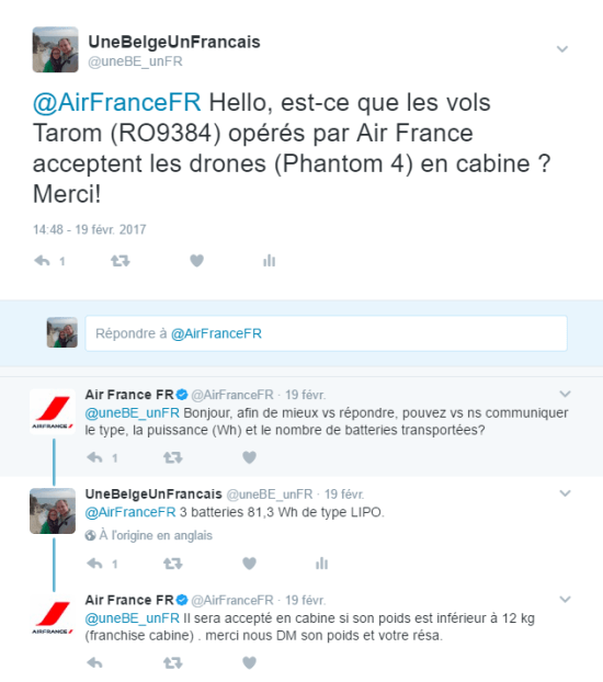 Twitter Air France drone
