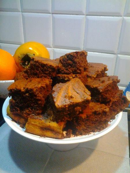 Brownies me kungull dhe cokollate