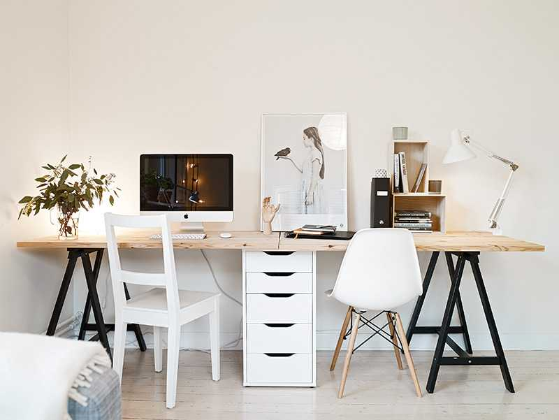 id e un bureau sur tr teaux 12 inspirations et une. Black Bedroom Furniture Sets. Home Design Ideas