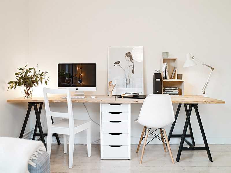 Idée : Un Bureau Sur Tréteaux, 12 Inspirations Et Une Selection Shopping