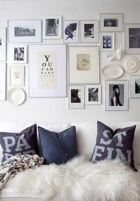 Un mur de cadres 20 id es d co pour accrocher ses cadres au mur avec style - Deco cadre photo mur ...