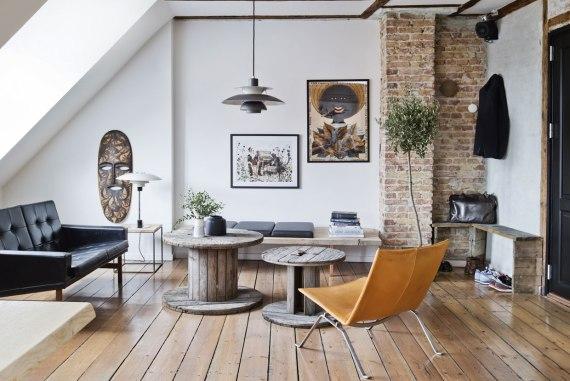 Un appartement au style brut et authentique | Une hirondelle dans ...