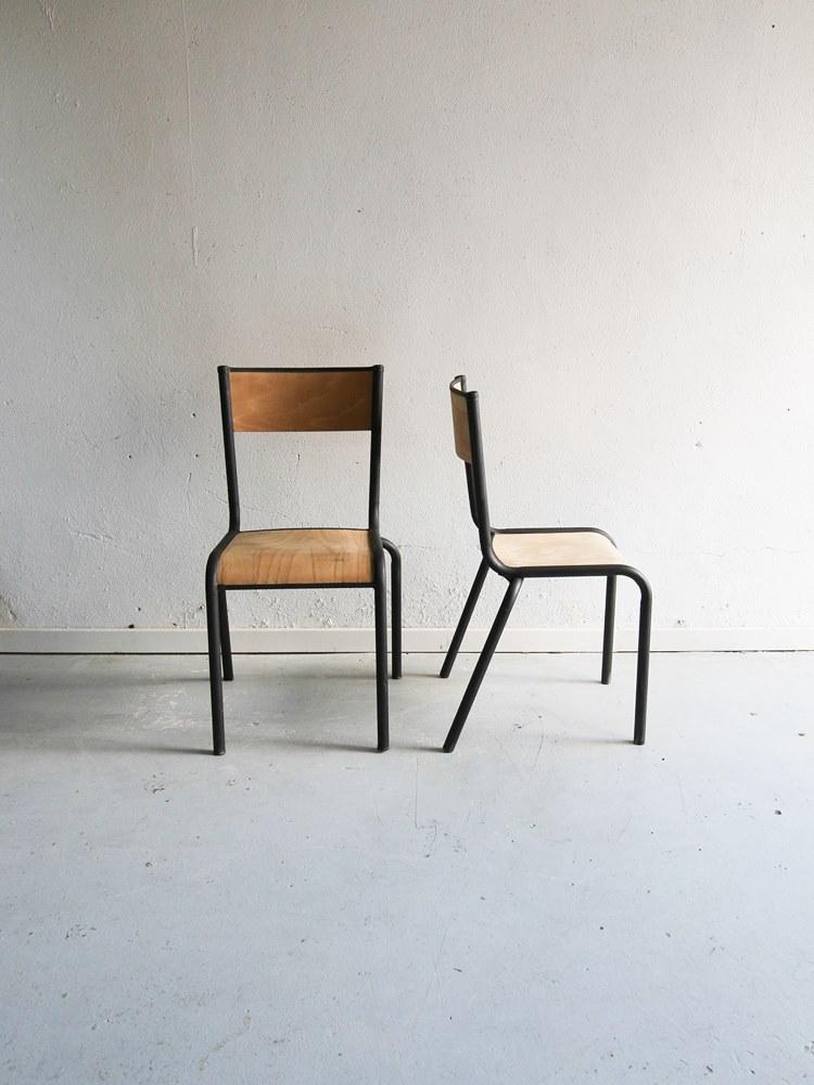 chaises école vintage 2