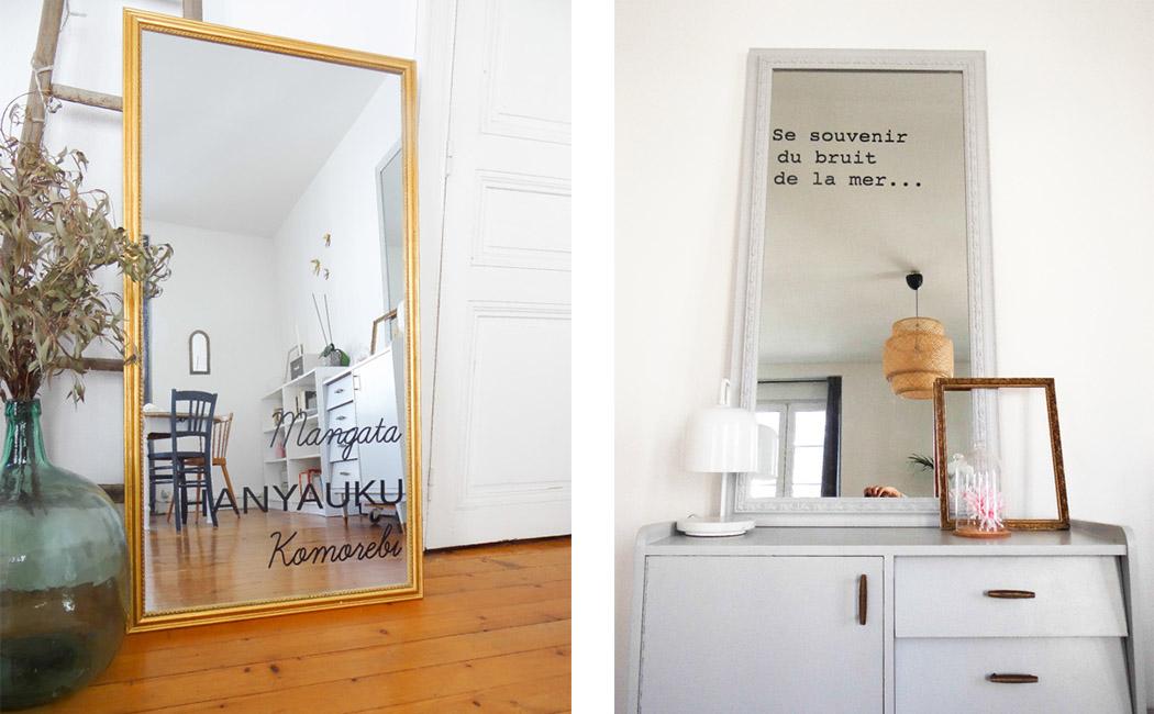 DIY ecrire sur miroir