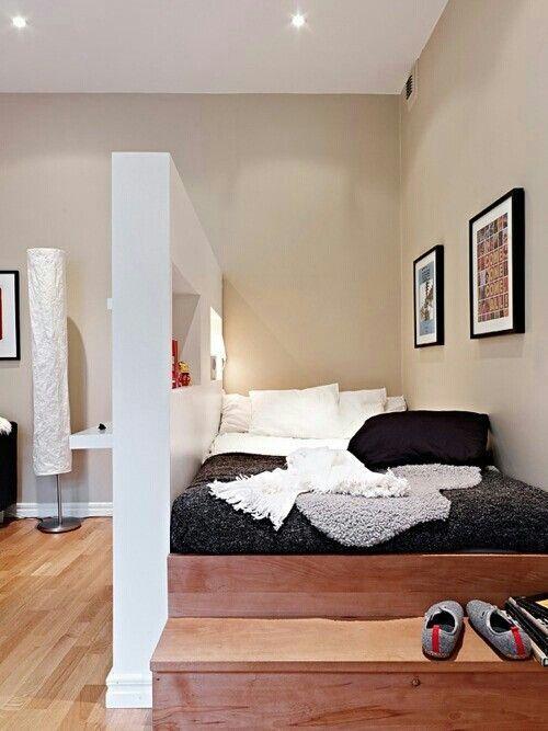 Coin chambre dans le salon 40 id es pour l 39 am nager for 2 chambres en enfilade