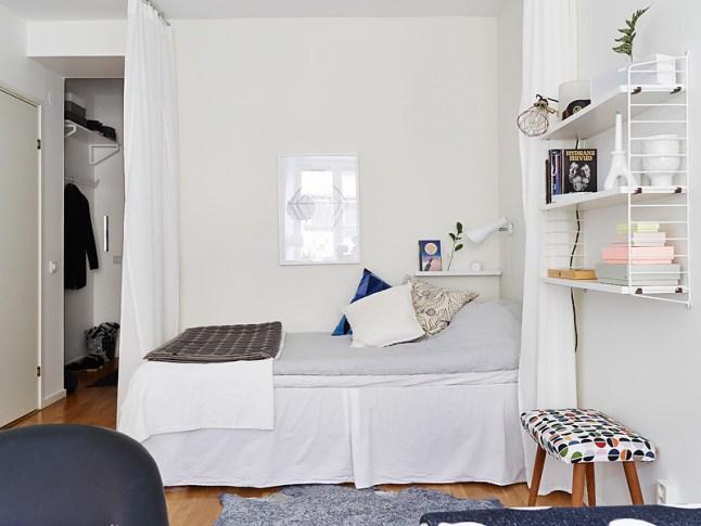 Coin chambre dans le salon 40 id es pour l 39 am nager une hirondelle dans les tiroirs - Comment amenager une chambre de 9m2 ...