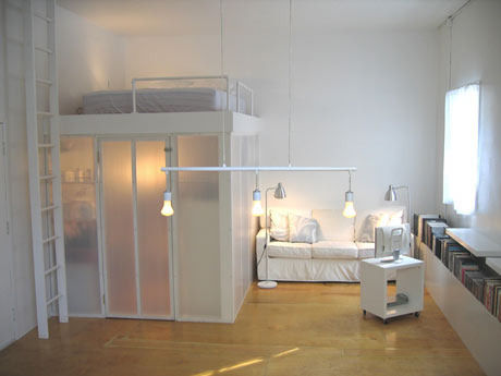 Coin chambre dans le salon 40 id es pour l 39 am nager for Amenager un salon en longueur