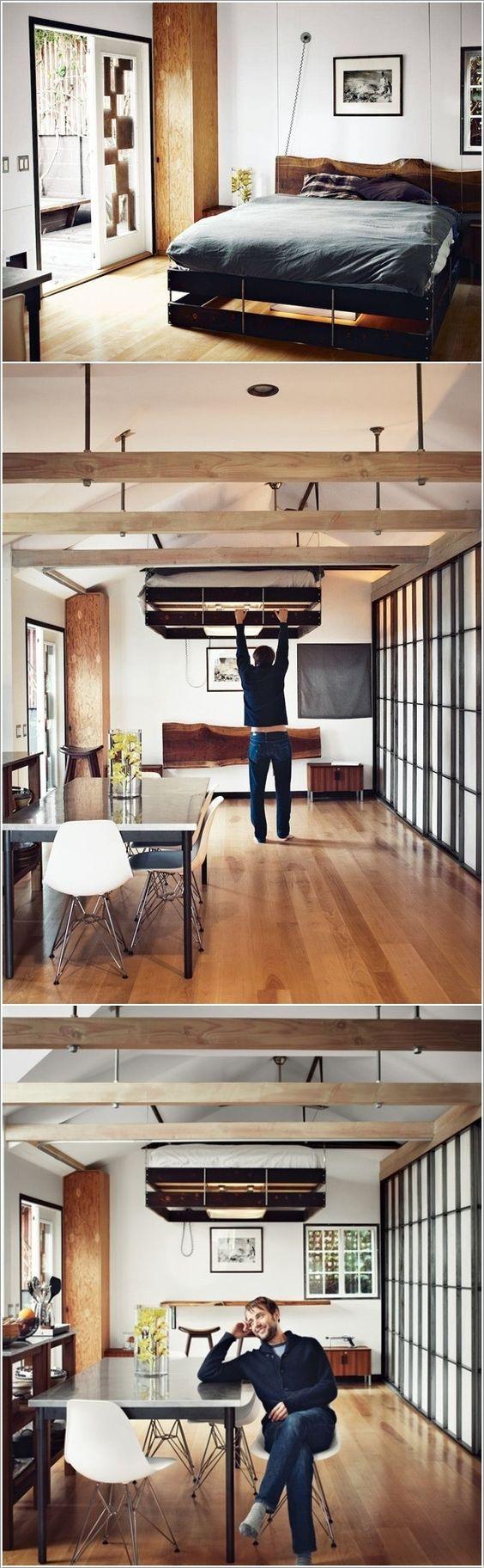 coin chambre dans le salon  12 idées pour l'aménager   Une ...
