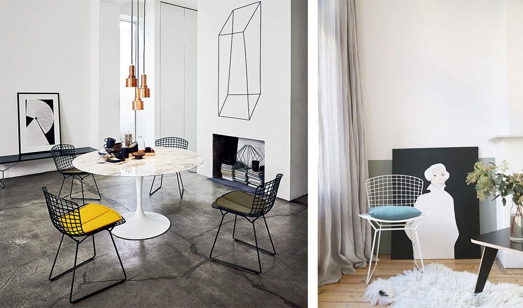Les chaises bertoia une hirondelle dans les tiroirs - Chaise bertoia occasion ...