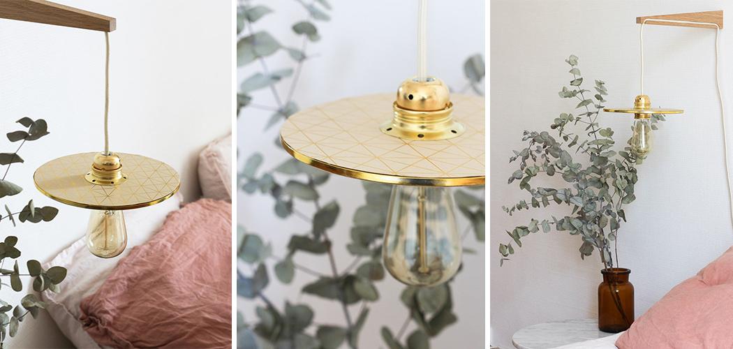 diy une lampe applique fa on baladeuse une hirondelle dans les tiroirs. Black Bedroom Furniture Sets. Home Design Ideas