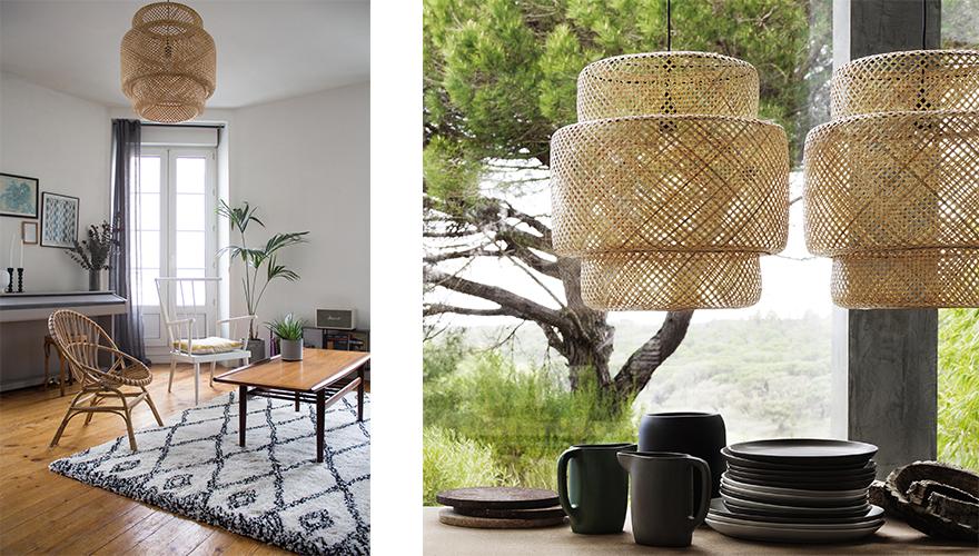 lampe tressee osier rotin bambou 9