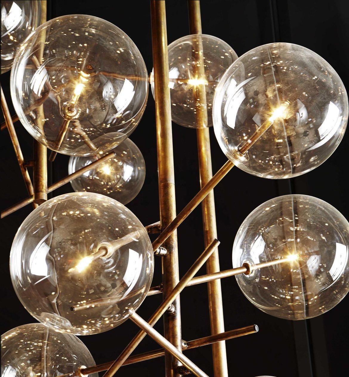 luminaire design verre et laiton 11