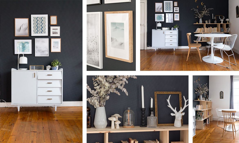 un mur de caract re dans mon salon home tour une. Black Bedroom Furniture Sets. Home Design Ideas