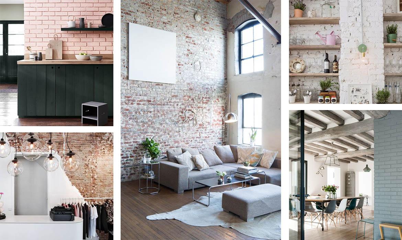 Idee Habillage Mur Interieur mur de briques : 18 idées pour s'inspirer ! | une hirondelle