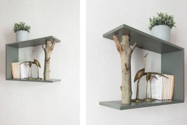 diy etagère branche