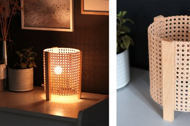 DIY lampe cannage
