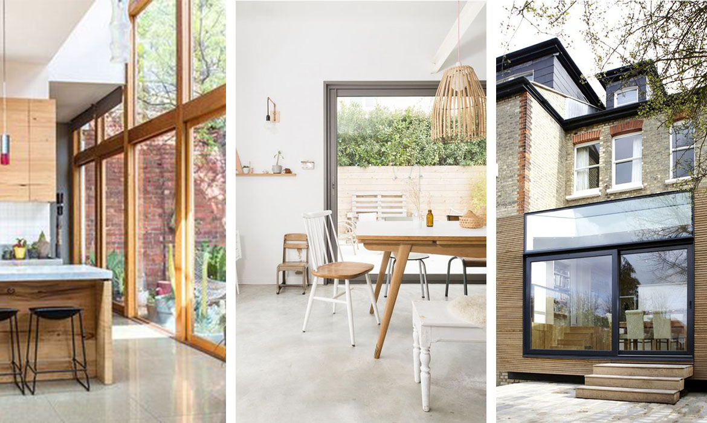 maison avec baie vitre affordable fenetre avec ouverture par le haut maison et devis with. Black Bedroom Furniture Sets. Home Design Ideas
