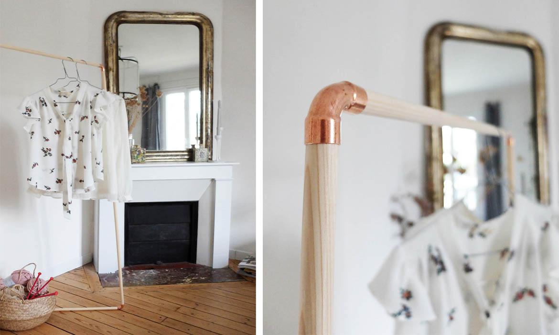 Diy archives une hirondelle dans les tiroirs - Portant vetement bois ancien ...