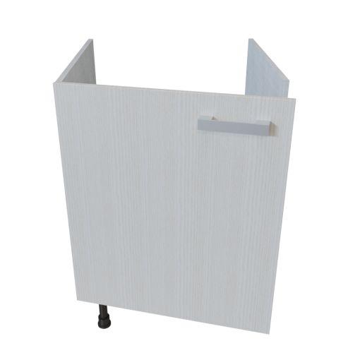 meuble bas sous evier 1 porte 60 cm pin blanc unekitchenette com