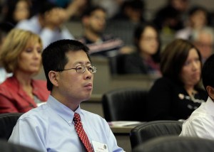 Above, UNMC researcher Don Wang, Ph.D., was among the few who earned recognition in all three categories: New Invention, U.S. Patent and Licensed Technology.
