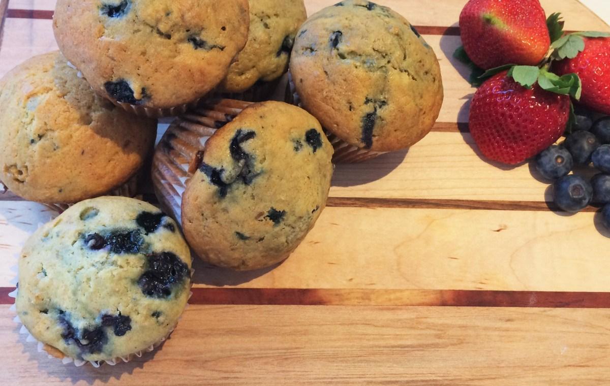 Muffins aux bleuets (myrtilles)