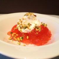 Gelée maison (genre Jell-O®) à la rhubarbe et à la fraise
