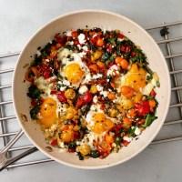 Poêlonnée de légumes aux œufs