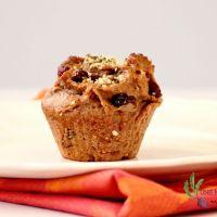 Muffins végétaliens aux pommes et noix sans sucre ajouté