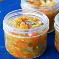 Salsa de tomates vertes