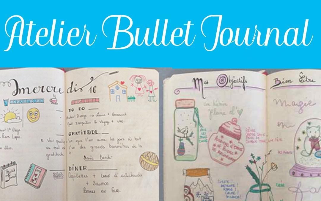 Atelier initiation au Bullet Journal samedi 6 juillet 2019 de 10h à 12h