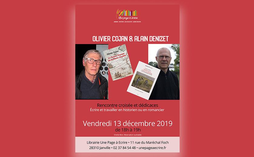 Rencontre croisée Olivier Cojan & Alain Denizet vendredi 13 décembre à 18h