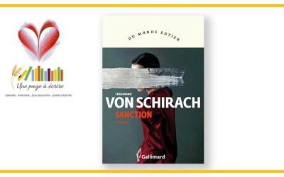 Ferdinand von Schirach, Sanction (Gallimard, 2020)