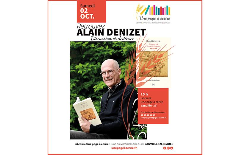 Rencontre avec Alain Denizet, samedi 2 octobre 2021 à 15h
