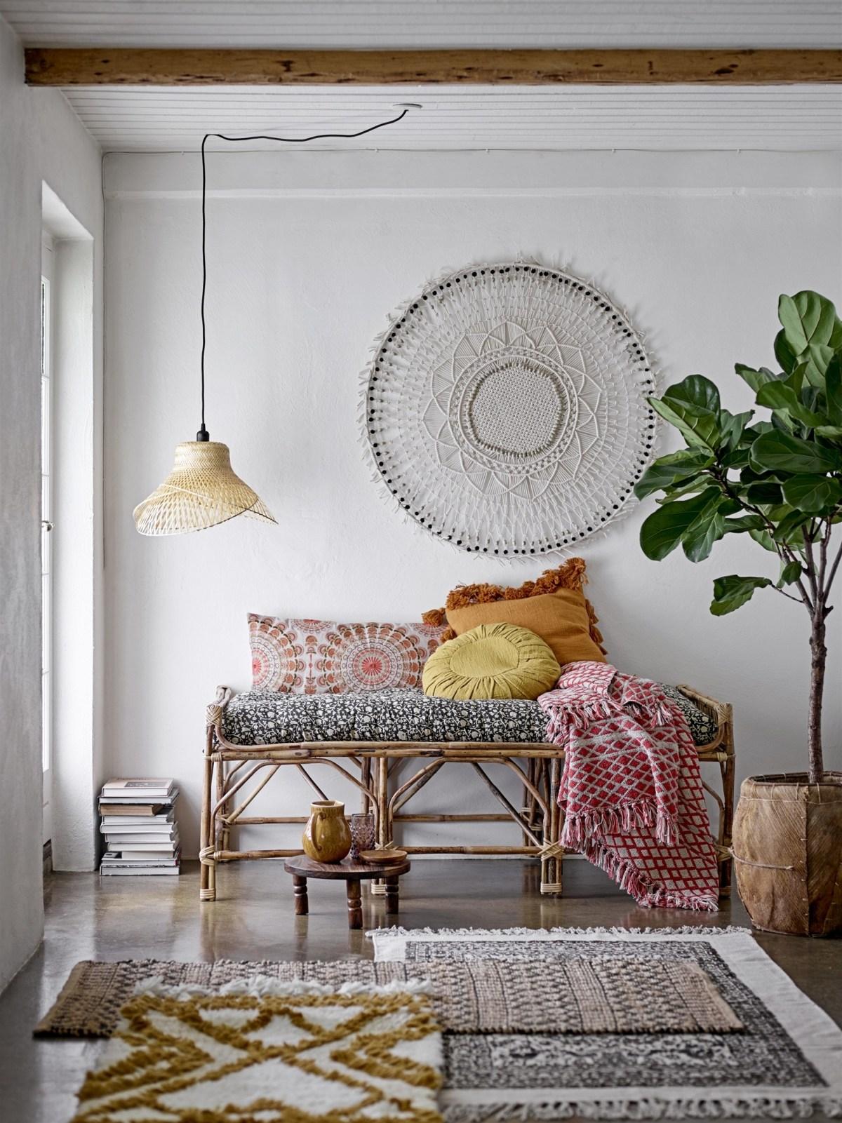 tapis textile superposition décoration