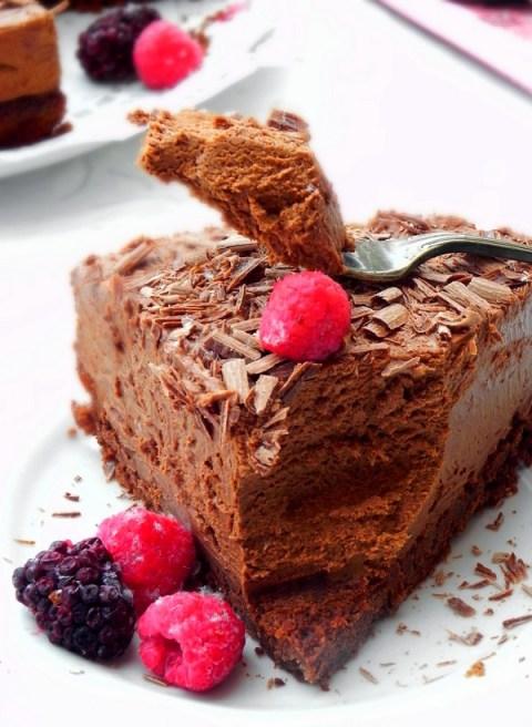 Gateau Mousse Au Chocolat Tout A Fait Exquis Une Plume