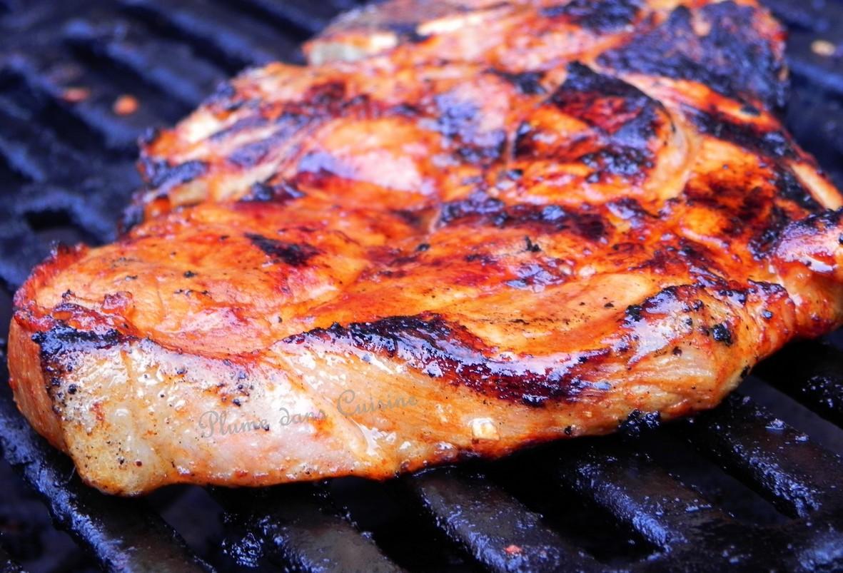 Marinade pour c telettes de porc au four une plume dans la cuisine - Carbonade de porc grillee ...