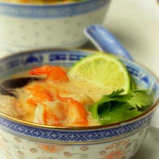 Soupe thaïe au lait de coco