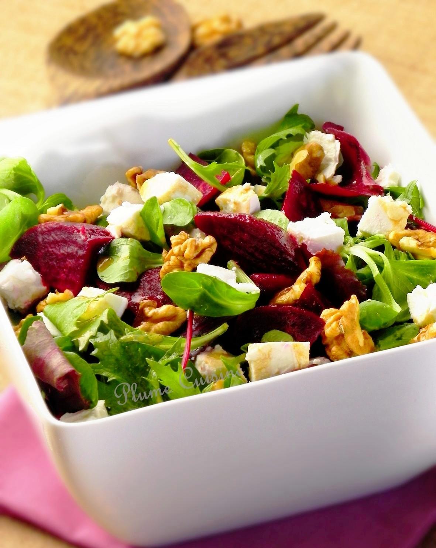 Salade de betterave au ch vre et aux noix une plume dans for Eliminer les vers des salades