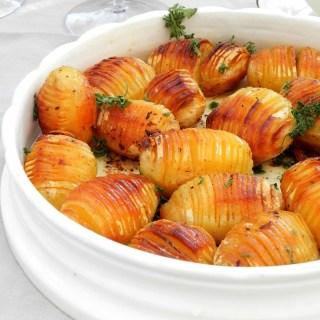 Pommes de terre à la suédoise (Hasselbackspotatis)