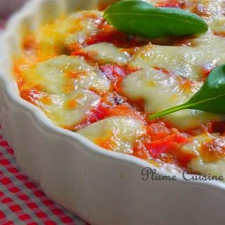 Lasagnes de courgettes à la mozzarella (sans gluten)