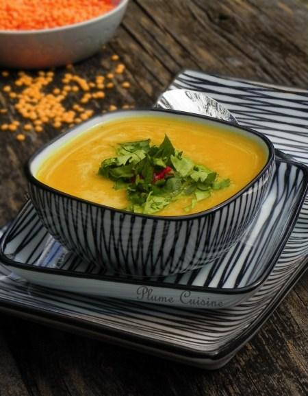 soupe de lentilles rouges