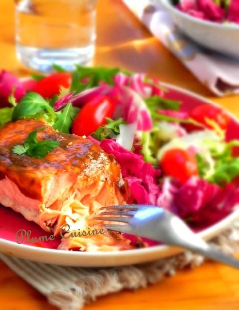 Saumon-au-vinaigre-balsamique