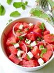 Salade pastèque, feta et menthe