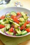 Salade d'avocat et de tomate