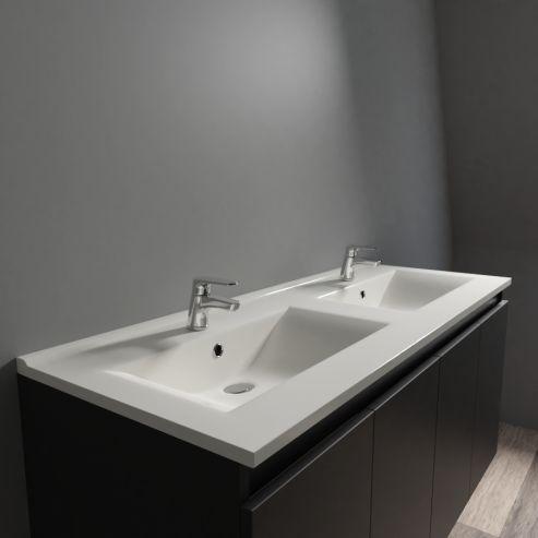 plan double vasque ceramique ceraplan 120 cm