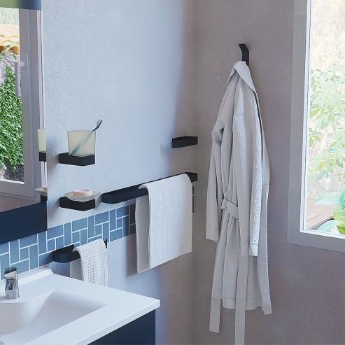 accessoires salle de bain 3 portes serviettes 1 porte savon 1 porte verre et 1 accroche peignoir